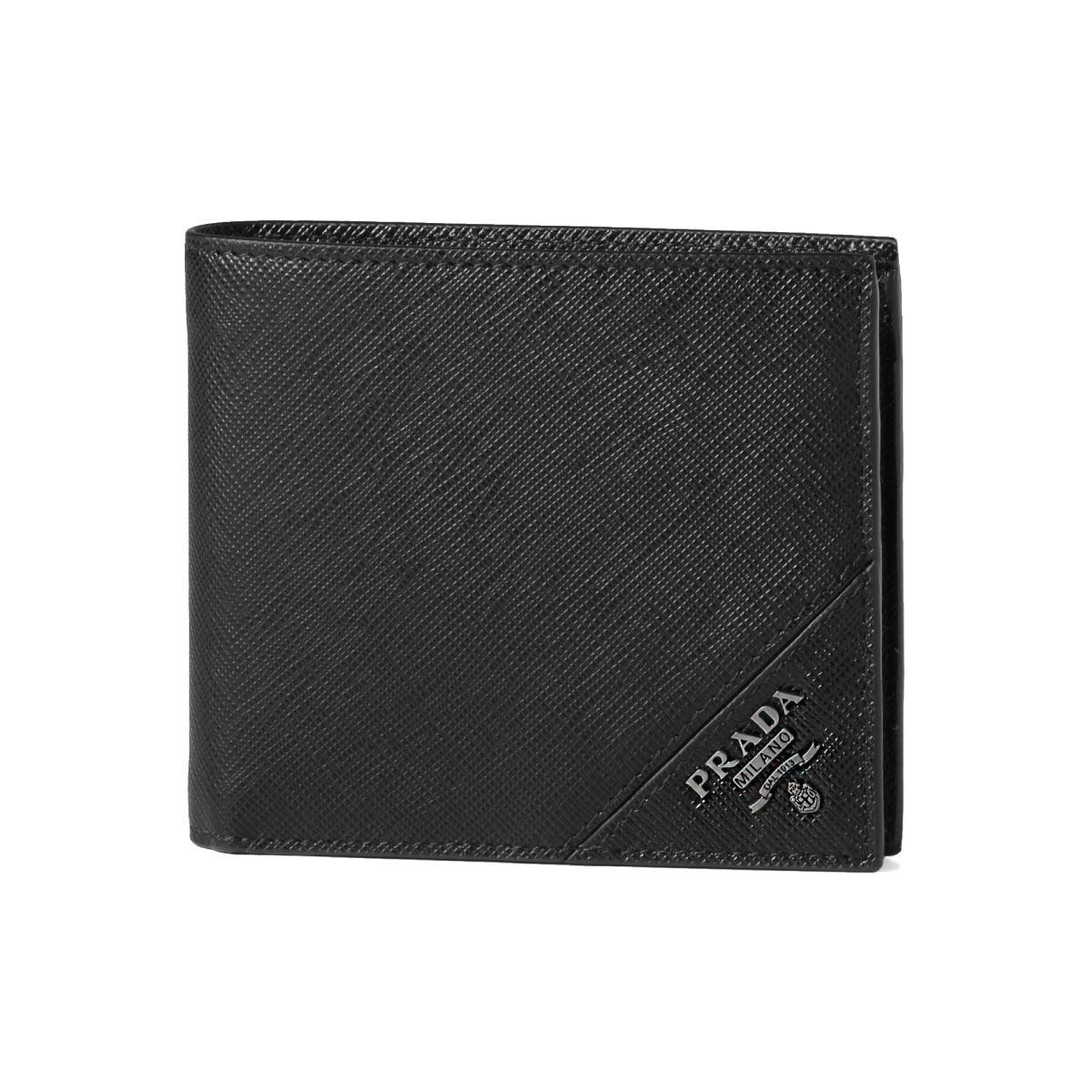 fd39b1006e88 Prada PRADA wallet men 2MO738 QME F0002 folio wallet SAFFIANO METAL NERO  black ...