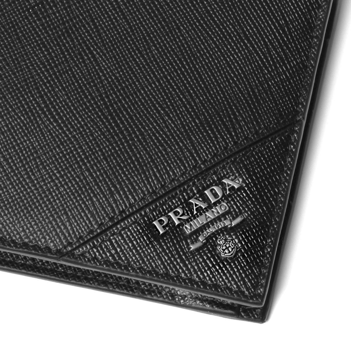 c73076896a1d ... Prada PRADA wallet men 2MO738 QME F0002 folio wallet SAFFIANO METAL  NERO black ...