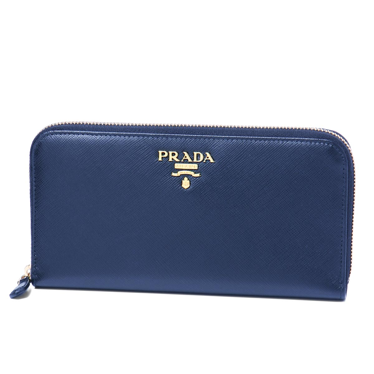 プラダ PRADA 財布 レディース 1ML506 QWA F0016 ラウンドファスナー長財布 SAFFIANO METAL BLUETTE ダークブルー