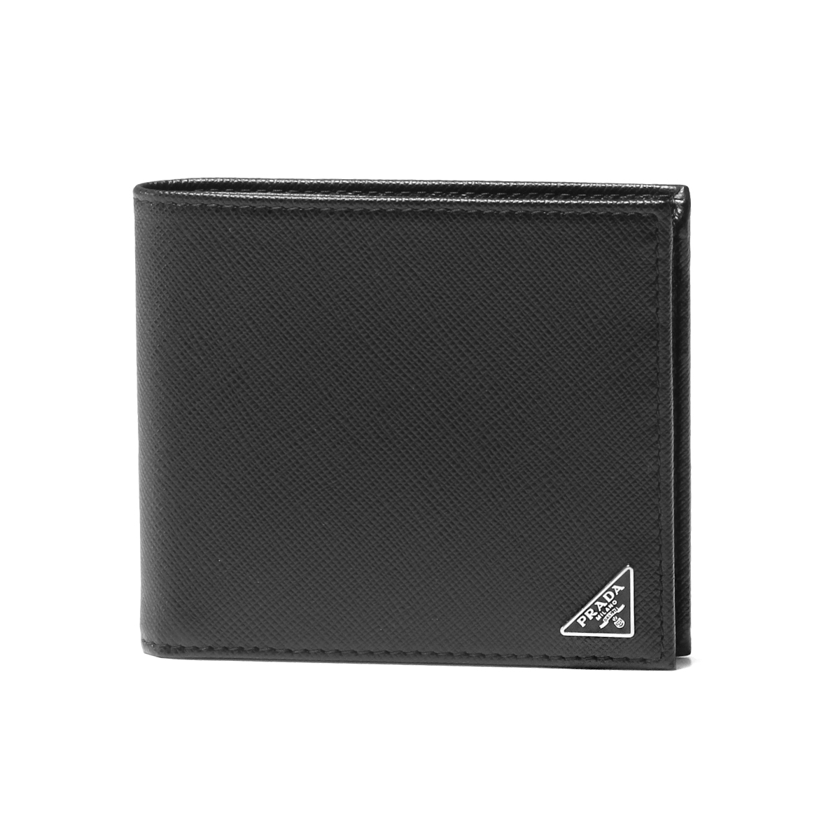 Prada PRADA wallet men 2MO738 QHH F0002 folio wallet SAFFIANO TRIANGOLO  NERO black