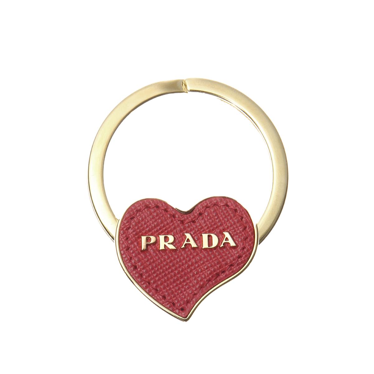 プラダ PRADA チャーム レディース 1PP063 053 F068Z SAFFIANO FUOCO レッド