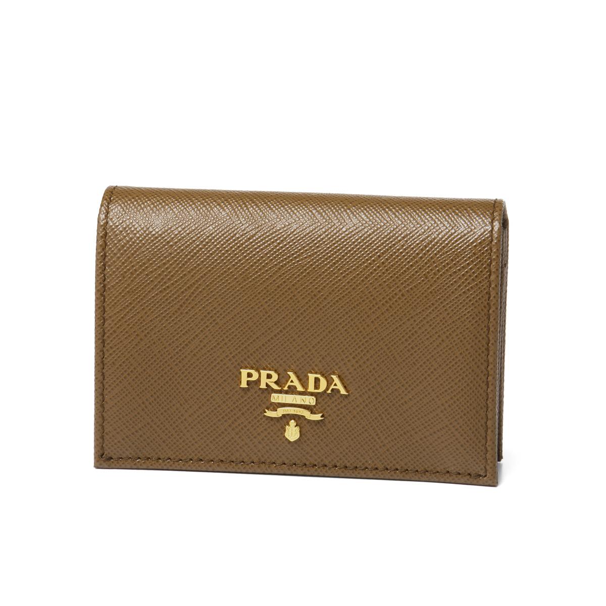 プラダ PRADA カードケース レディース 1MC945 QWA F0401 SAFFIANO METAL CANNELLA ブラウン