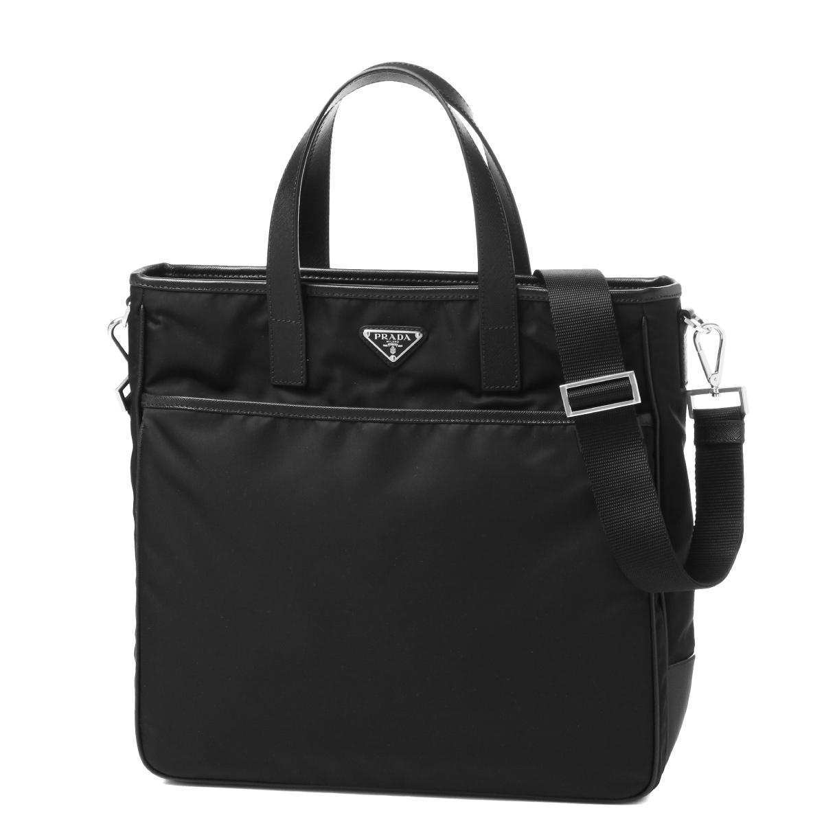 171aea9ceac4 Prada PRADA bag men 2VG032 064 F0002 shoulder tote bag NERO black belonging  to