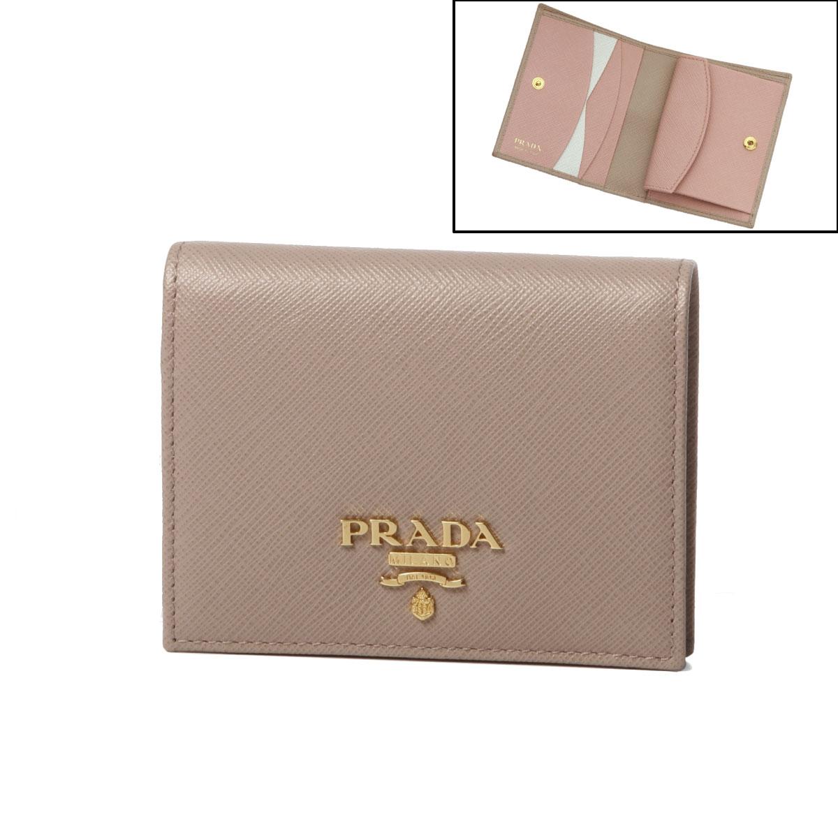 7220d9b9fc46 Prada PRADA wallet Lady's 1MV204 ZLP F0TTV folio wallet SAFFIANO MULTIC  CIPRIA+ORCHIDEA beige ...