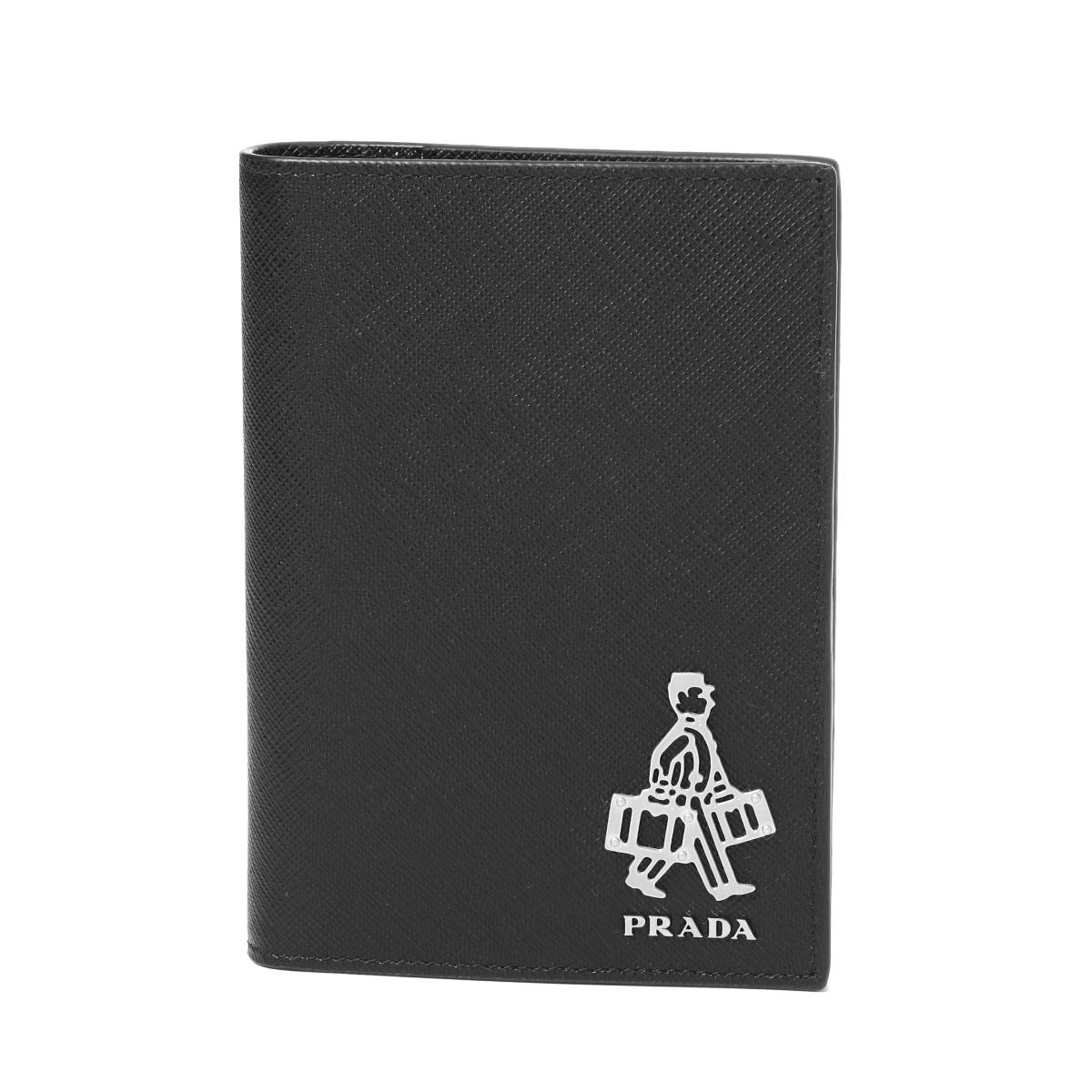 プラダ PRADA パスポートケース メンズ 2MV412 9Z2 F0002 SAFFIANO TRAVEL NERO ブラック