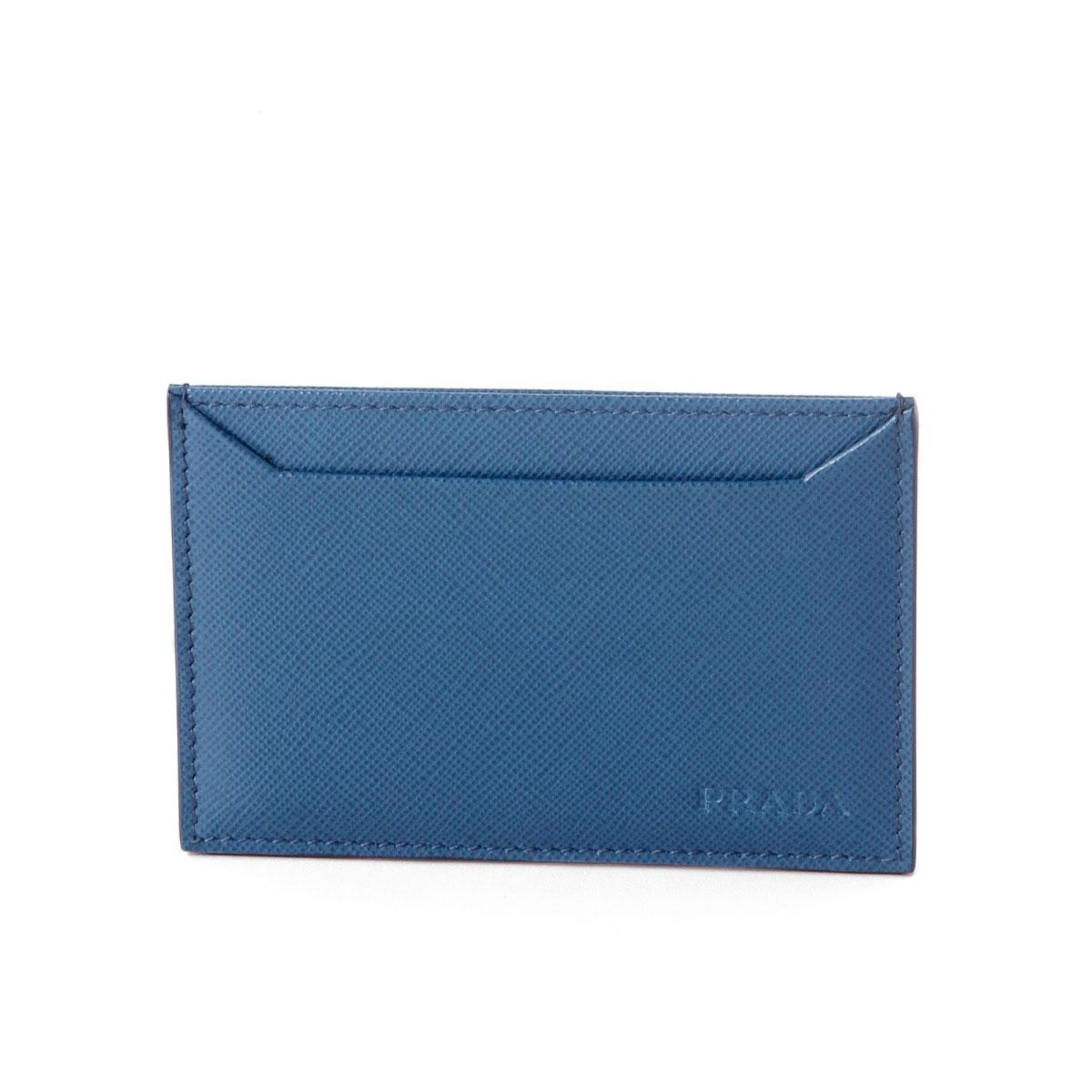 プラダ PRADA カードケース メンズ 2MC208 PN9 F0215 SAFFIANO 1 COBALTO ブルー