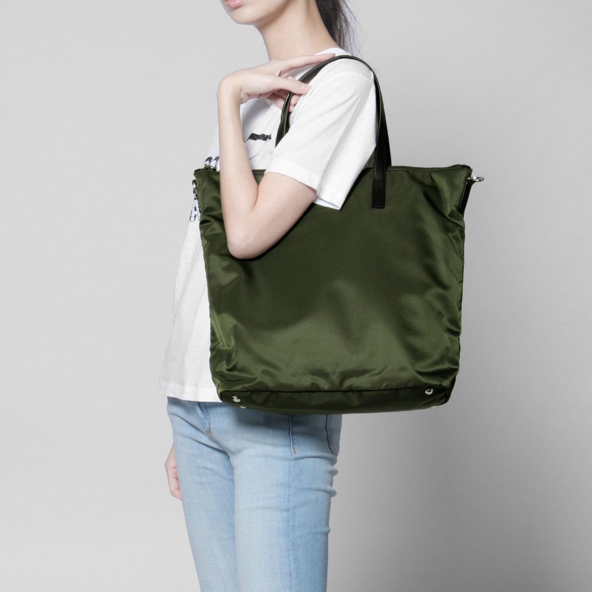 6ebaaee22d34ba ... Prada PRADA bag lady 1BG696 V44 F0161 shoulder tote bag MILITARE Green  belonging to