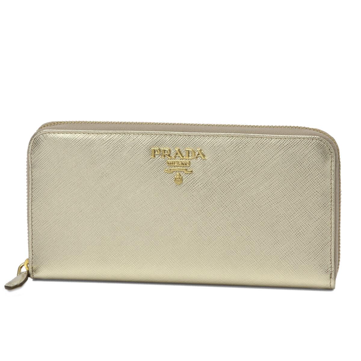 03d76aae0dae ... best price prada prada wallet ladys 1ml506 qwa f0846 round fastener  long wallet saffiano metal pirite