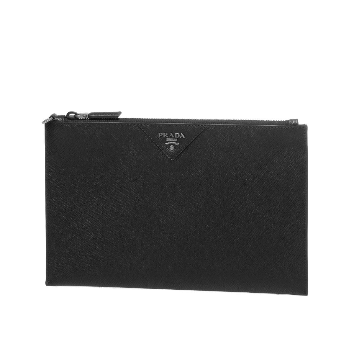 Prada Bag Men 2ng05v Qme F0002 Clutch Nero Black