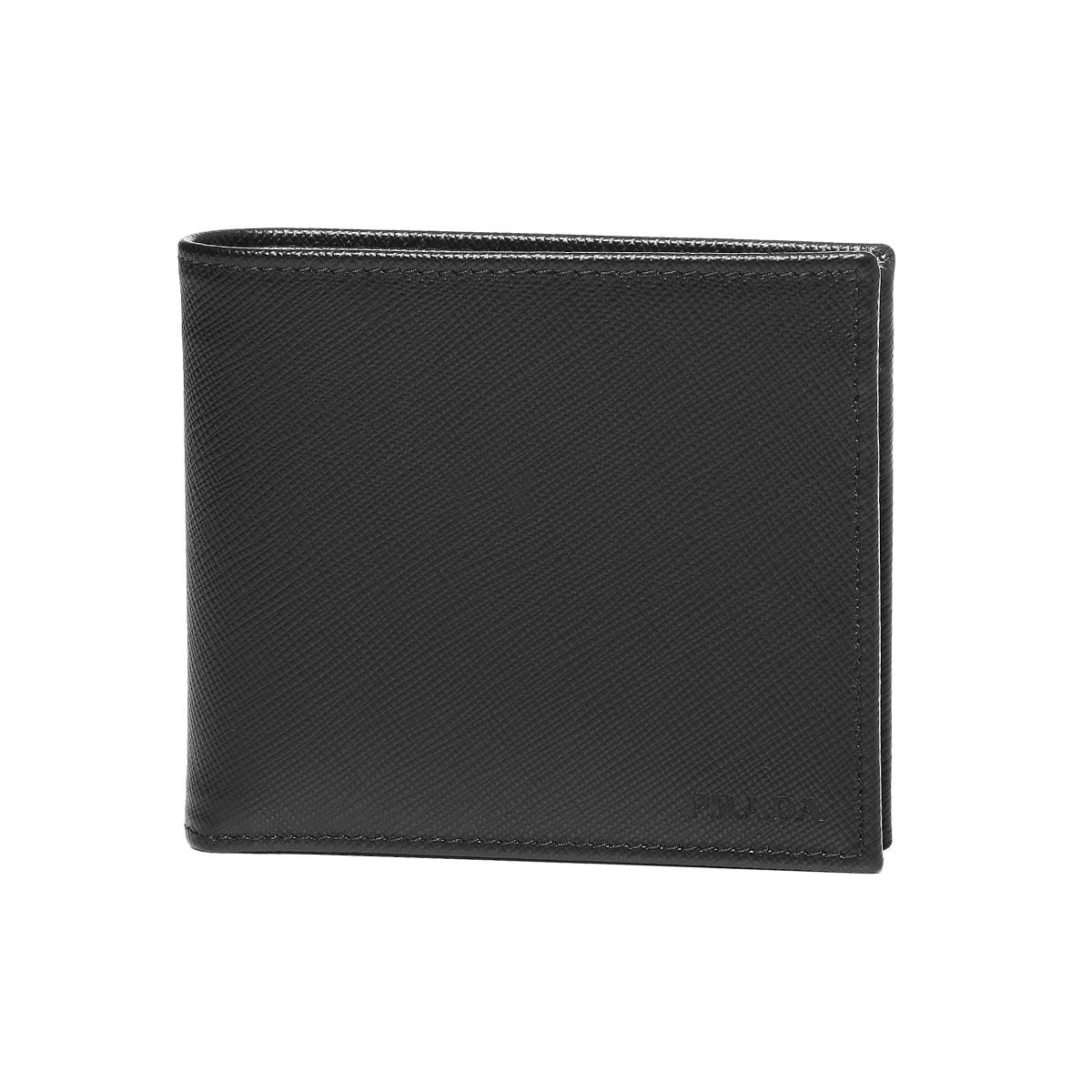プラダ PRADA 財布 メンズ 2MO738 053 F0002 二つ折り財布 SAFFIANO NERO ブラック