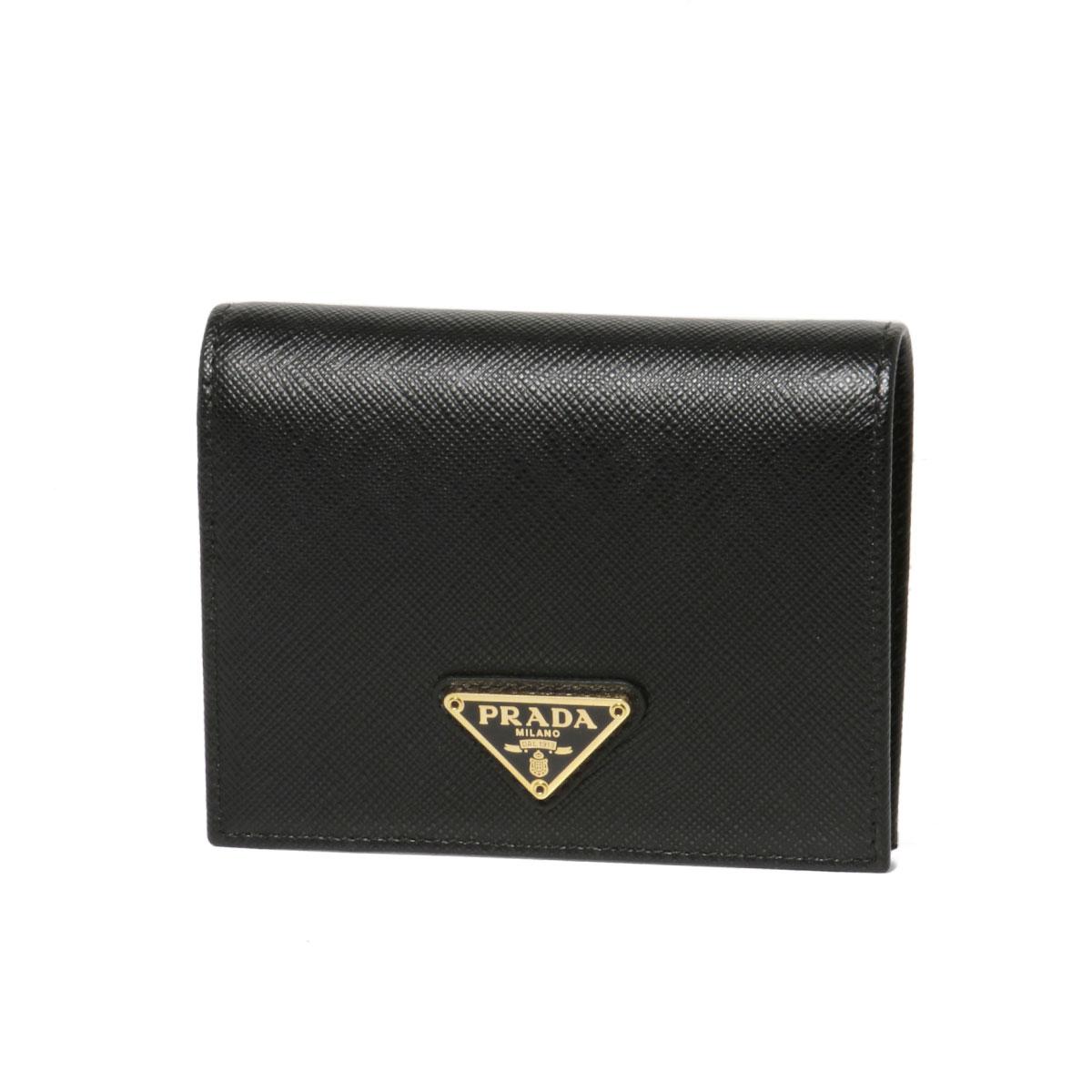 faff957e066b importshopdouble: Prada PRADA wallet Lady's 1MV204 QHH F0002 folio wallet  SAFFIANO TRIANGOLO NERO black | Rakuten Global Market