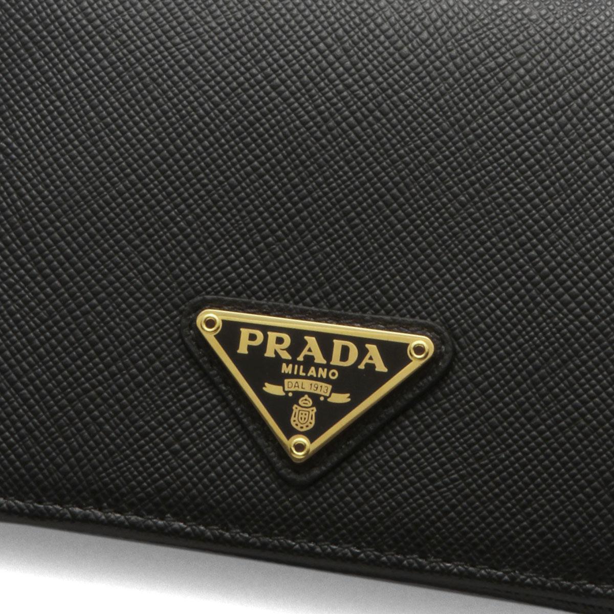 59c8251a223c ... Prada PRADA wallet Lady's 1MV204 QHH F0002 folio wallet SAFFIANO  TRIANGOLO NERO black ...