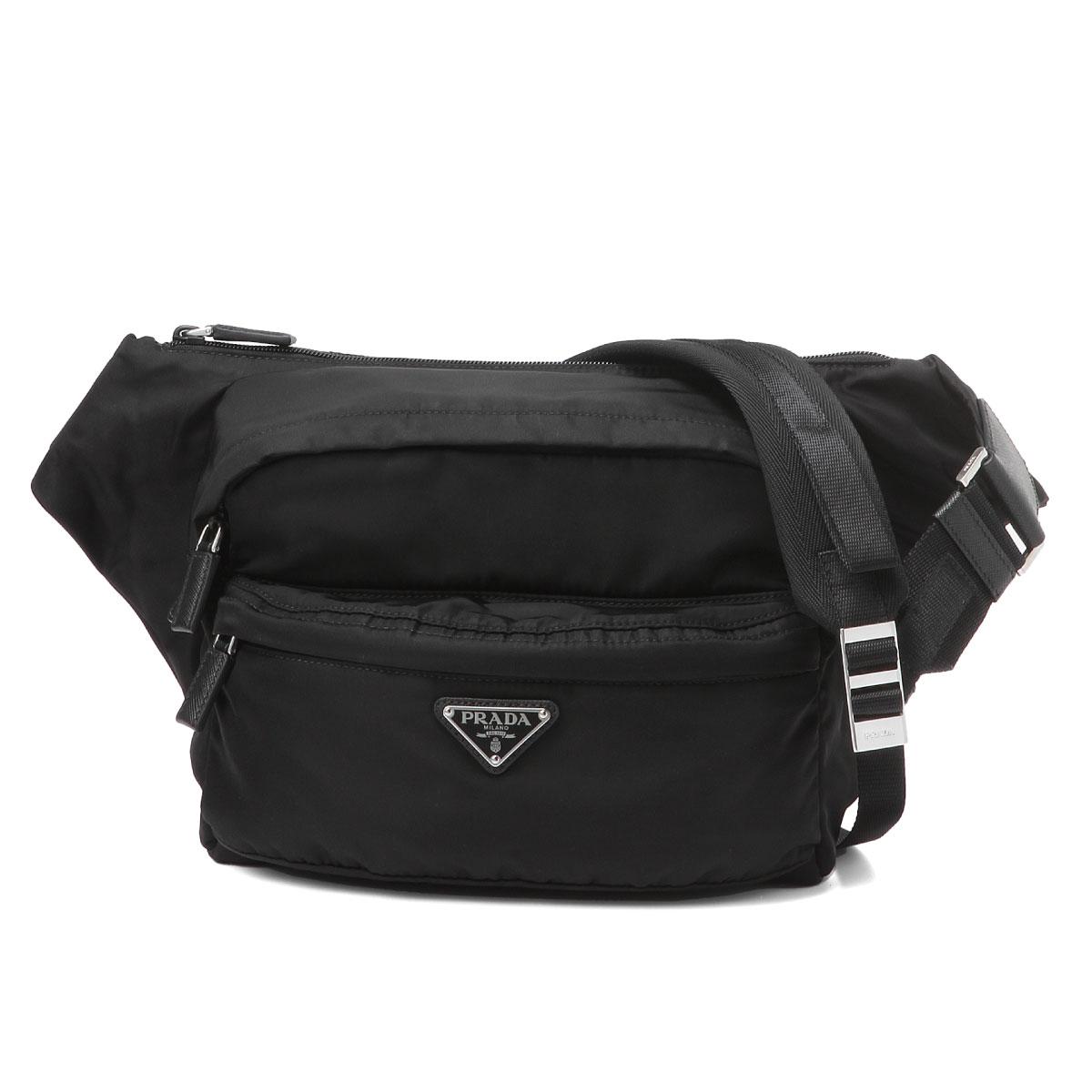 01ef19b1a2973f importshopdouble: Prada PRADA bag men 2VH038 973 F0002 bum-bag NERO ...