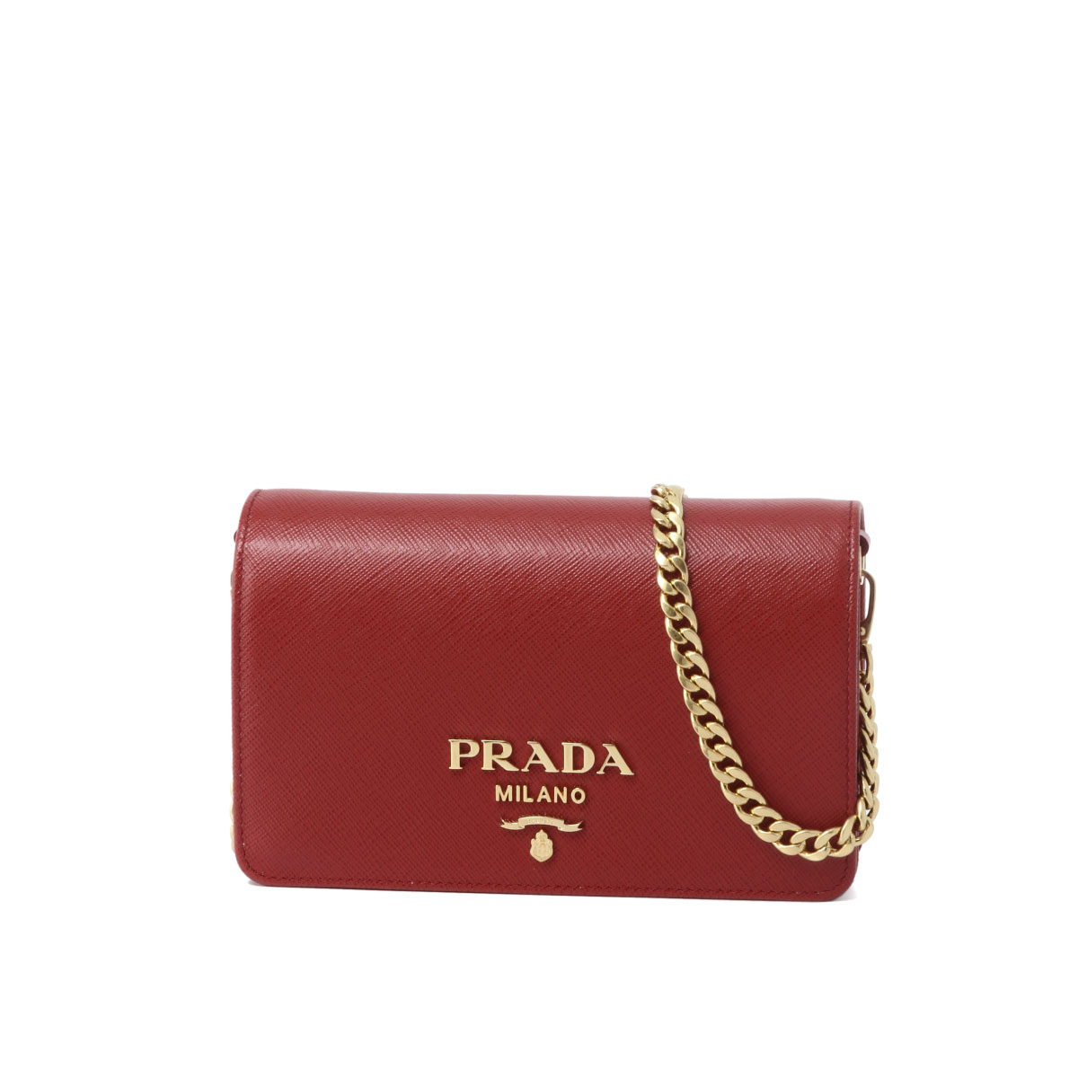 5ed7ae6d67 Prada PRADA bag lady 1BP006 NZV F068Z shoulder clutch bag FUOCO red  belonging to