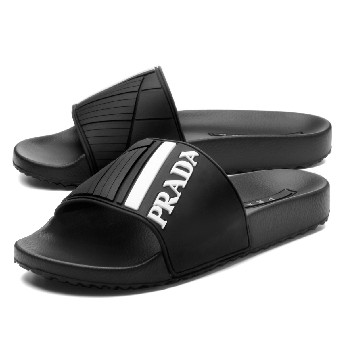 4fe7436727 Prada PRADA shoes men 4X3204 B4O F0IAU sandals NERO+BIANCO 1 black