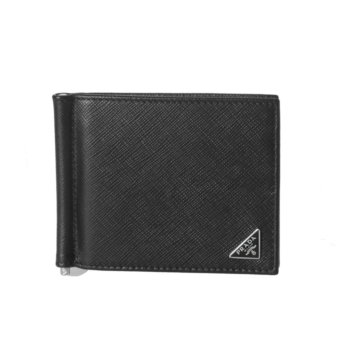 21e1de06775197 importshopdouble: Prada PRADA wallet men 2MN077 QHH F0002 folio wallet  SAFFIANO TRIANGOLO NERO black | Rakuten Global Market