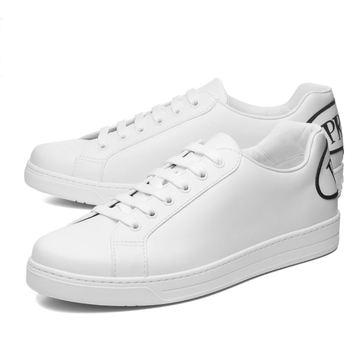 finest selection eddb7 54397 Prada PRADA shoes men 4E3403 3KE5 F0009 sneakers BIANCO white