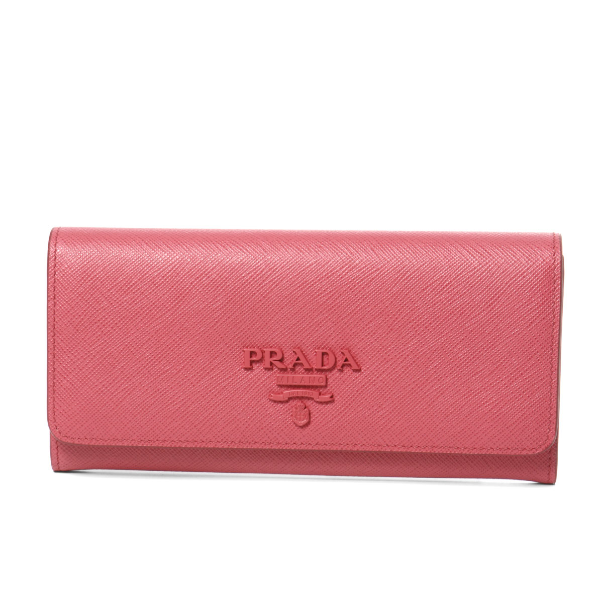 プラダ PRADA 財布 レディース 1MH132 2EBW F0505 二つ折り長財布 SAFFIANO SHINE PEONIA ピンク