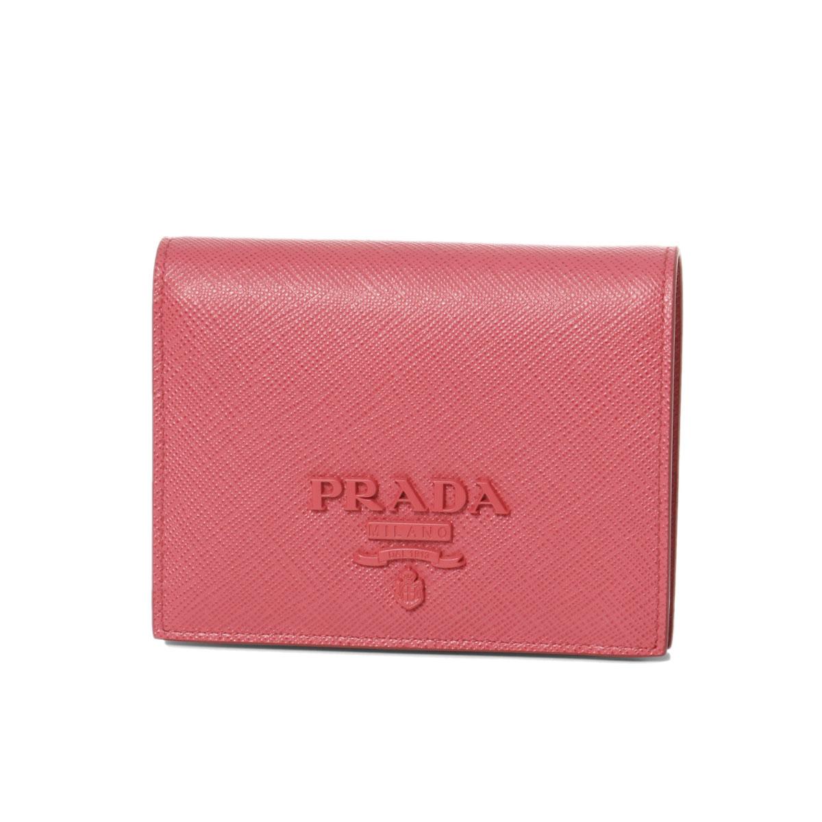 プラダ PRADA 財布 レディース 1MV204 2EBW F0505 二つ折り財布 SAFFIANO SHINE PEONIA ペオニア