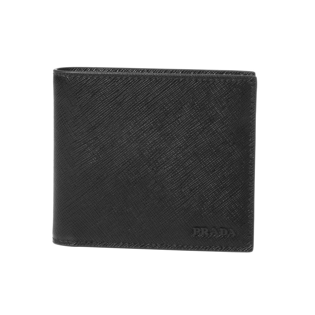 プラダ PRADA 財布 メンズ 2MO513 ZLP F0002 二つ折り財布 SAFFIANO MULTIC NERO ブラック