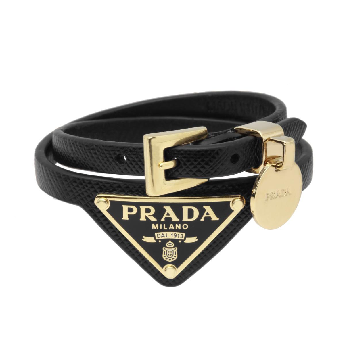 プラダ PRADA アクセサリー レディース 1IB312 053 F0002 ブレスレット SAFFIANO NERO ブラック