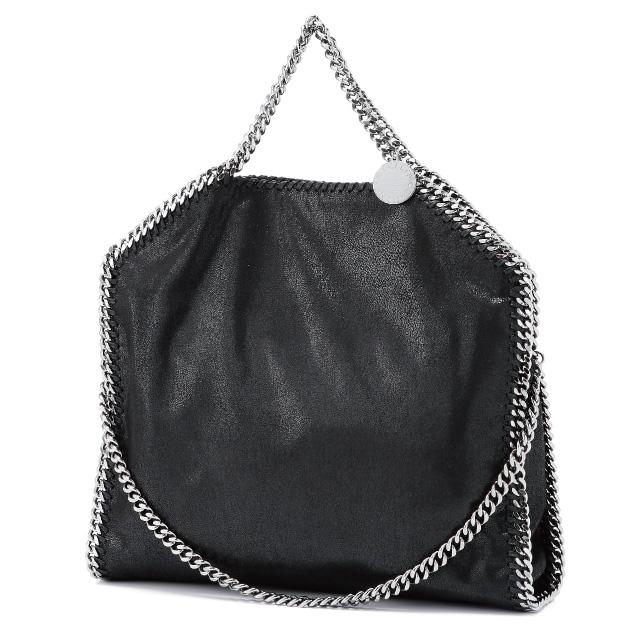 Stellamccartney Stella Mccartney Bag Faux Suede Chain Handle Tote Black