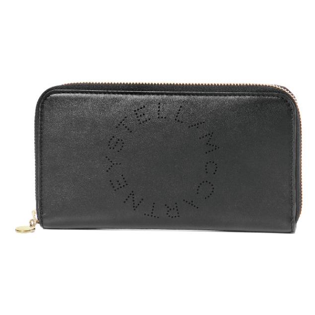 ステラ マッカートニー STELLA McCARTNEY 財布 レディース 502893 W9923 1000 ラウンドファスナー長財布 BLACK ブラック