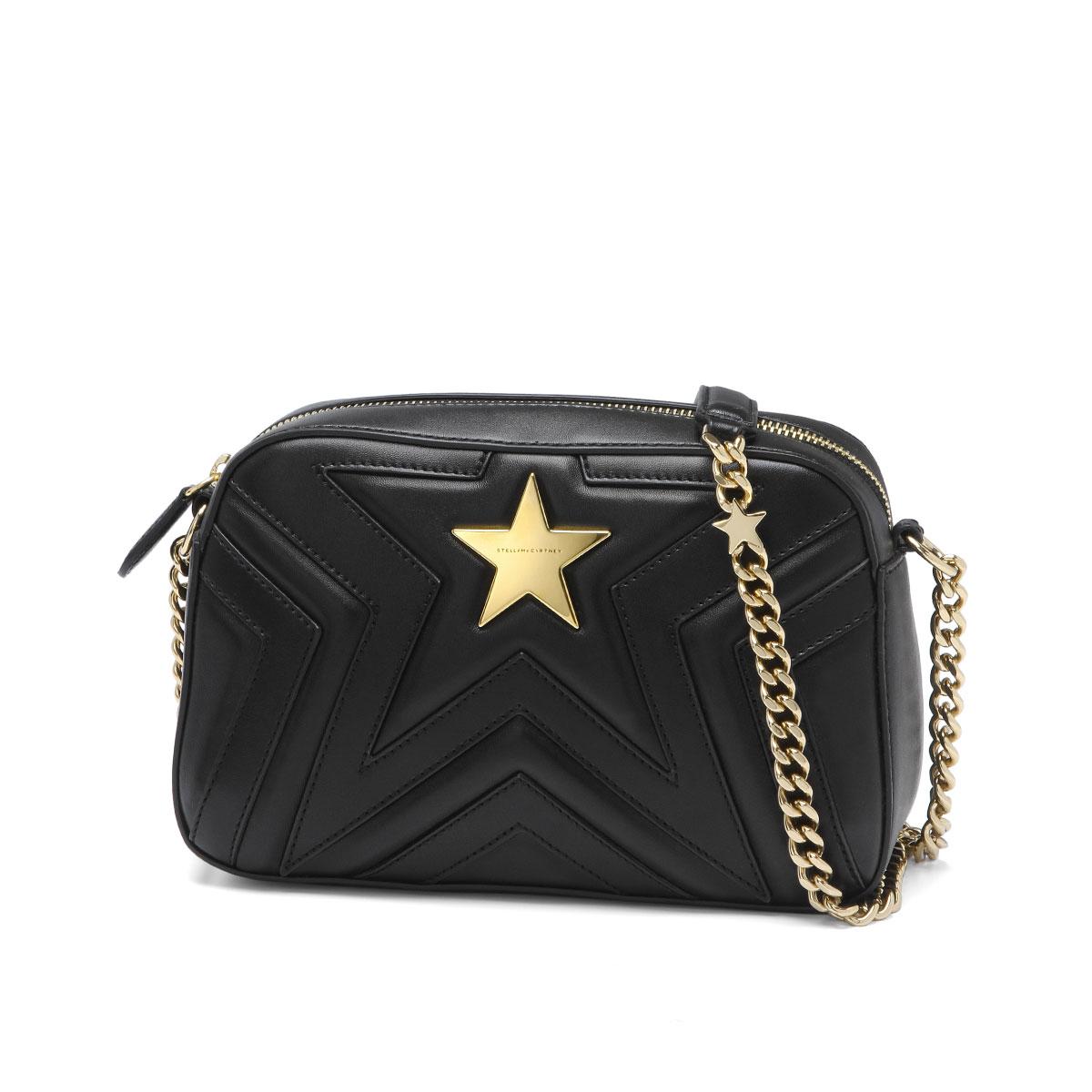 500993 Stella McCartney STELLA McCARTNEY bag lady W8214 1000 shoulder bag  Small STELLA STAR Stella star BLACK black 698f261844c82