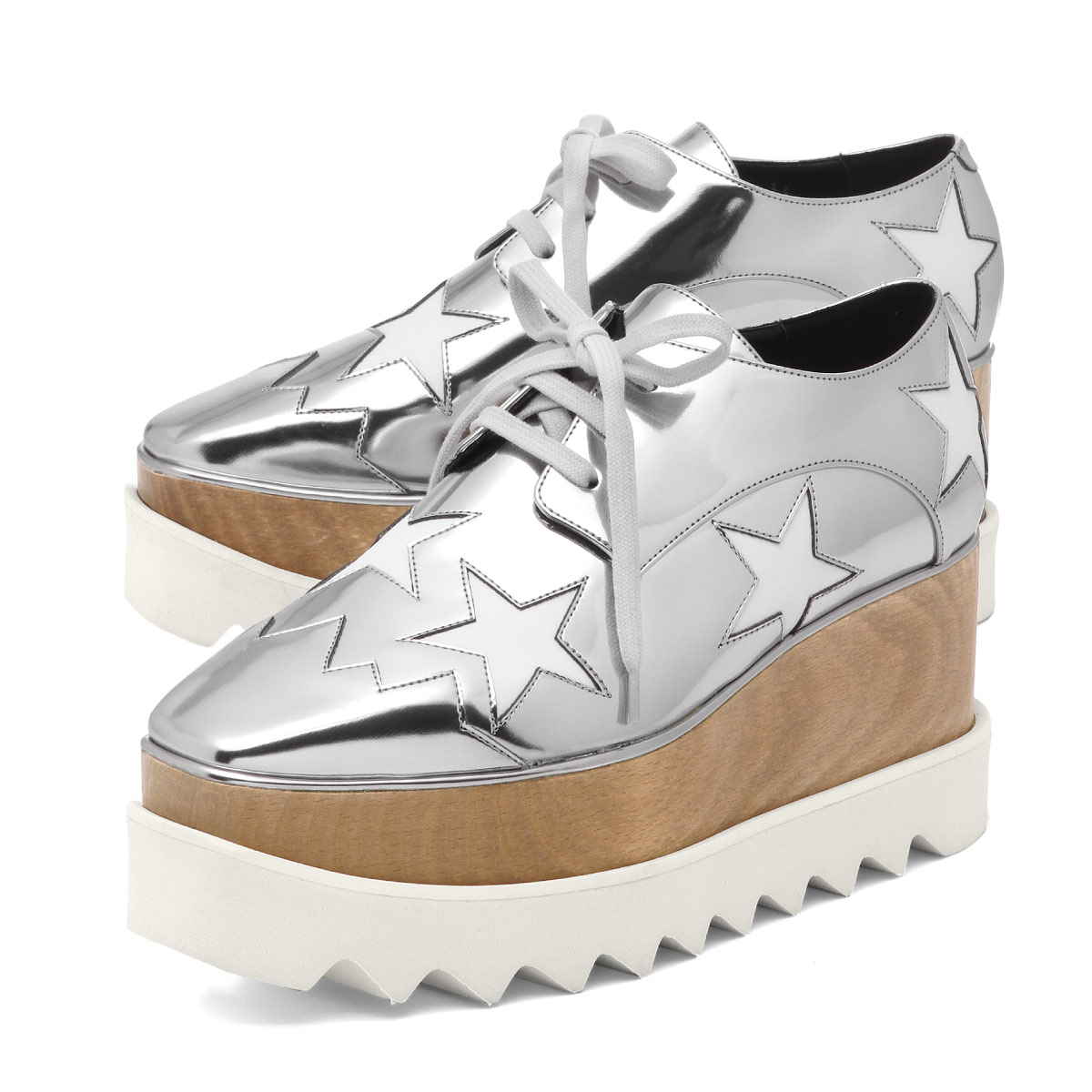 02f5dc51ad1a Stella McCartney STELLA McCARTNEY shoes Lady s 363998 W0ZR5 8171 sneakers  ELYSE STAR Ellis star INDIUM WHITE silver