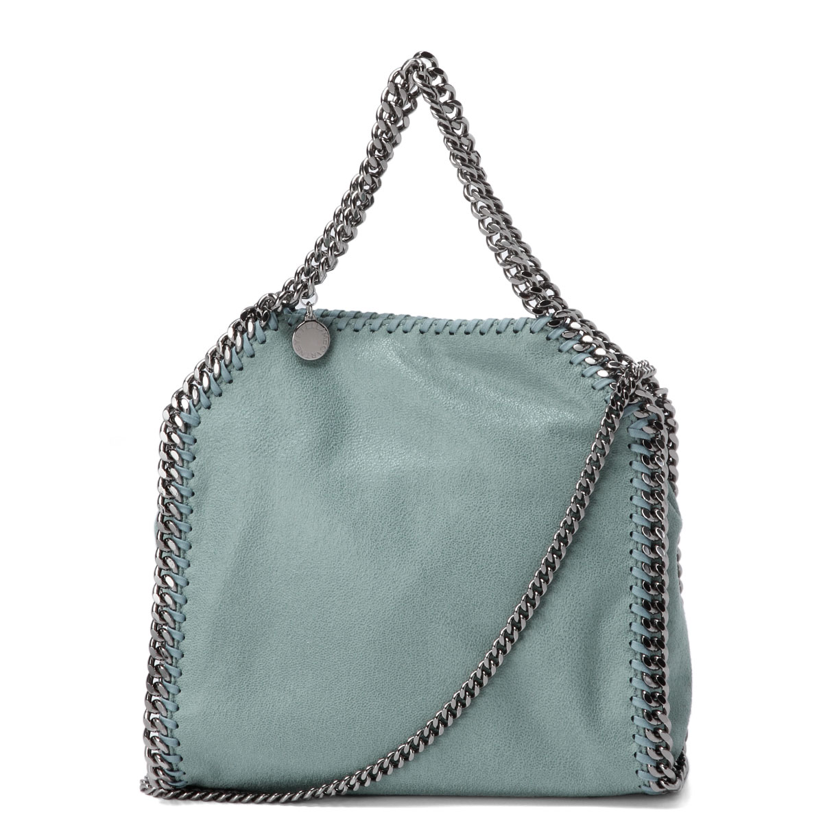 371223 Stella McCartney STELLA McCARTNEY bag lady W9132 4800 shoulders tote  bag mini-FALABELLA Fala seawife SKY blue belonging to b5750b7687f13