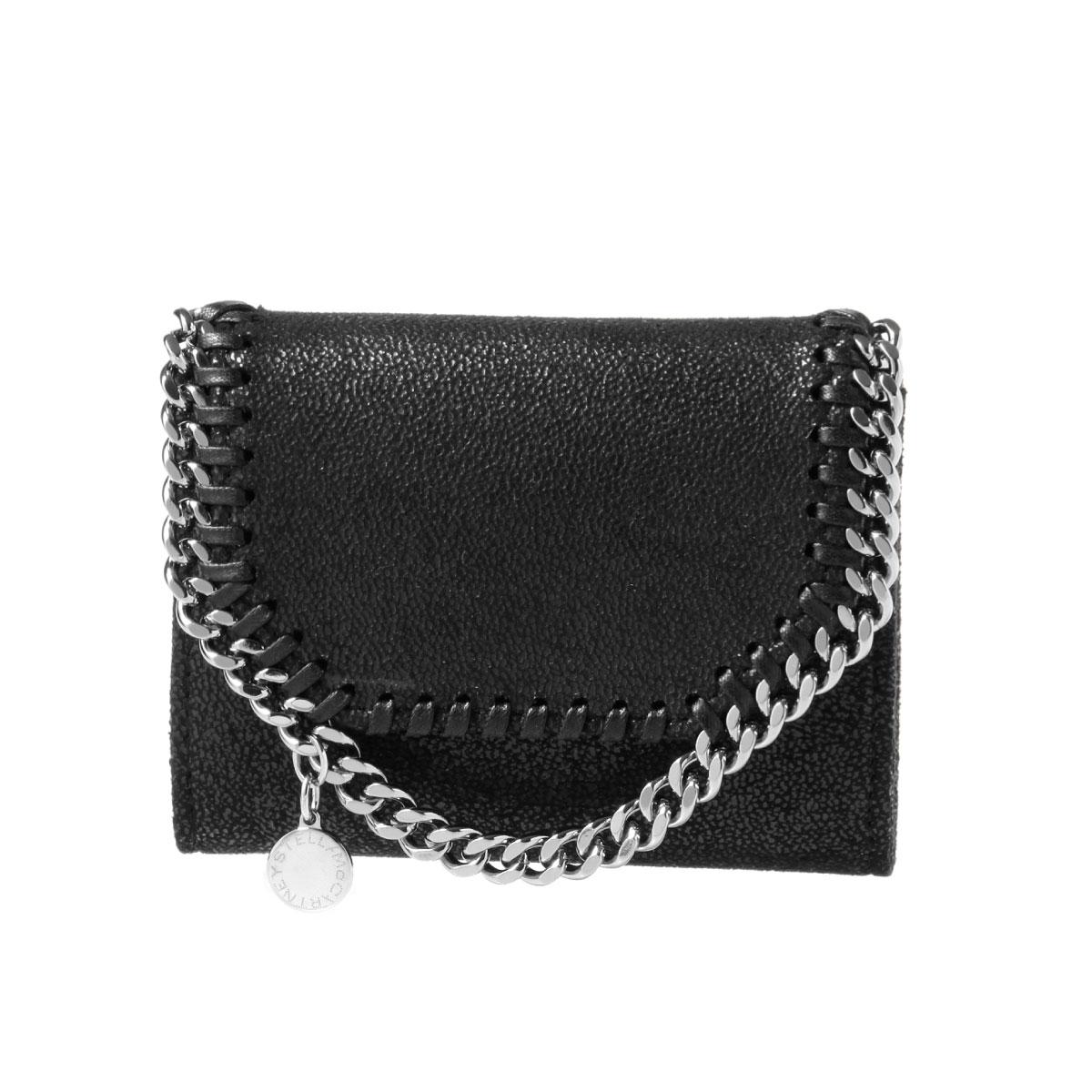 ステラ マッカートニー STELLA McCARTNEY 財布 レディース 391836 W9132 1000 二つ折り財布 スモール FALABELLA ファラベラ BLACK ブラック