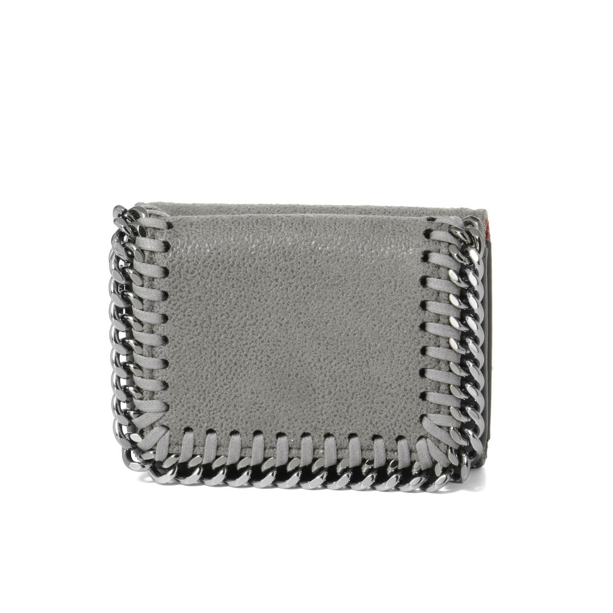 ステラ マッカートニー STELLA McCARTNEY 財布 レディース 521371 W9132 1220 三つ折り財布 ミニ FALABELLA ファラベラ LIGHT GREY ライトグレー