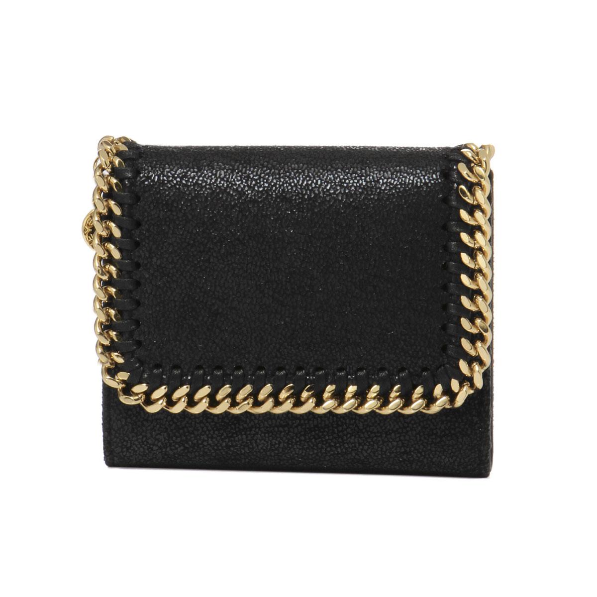 ステラ マッカートニー STELLA McCARTNEY 財布 レディース 431000 W9355 1000 三つ折り財布 スモール FALABELLA ファラベラ BLACK ブラック