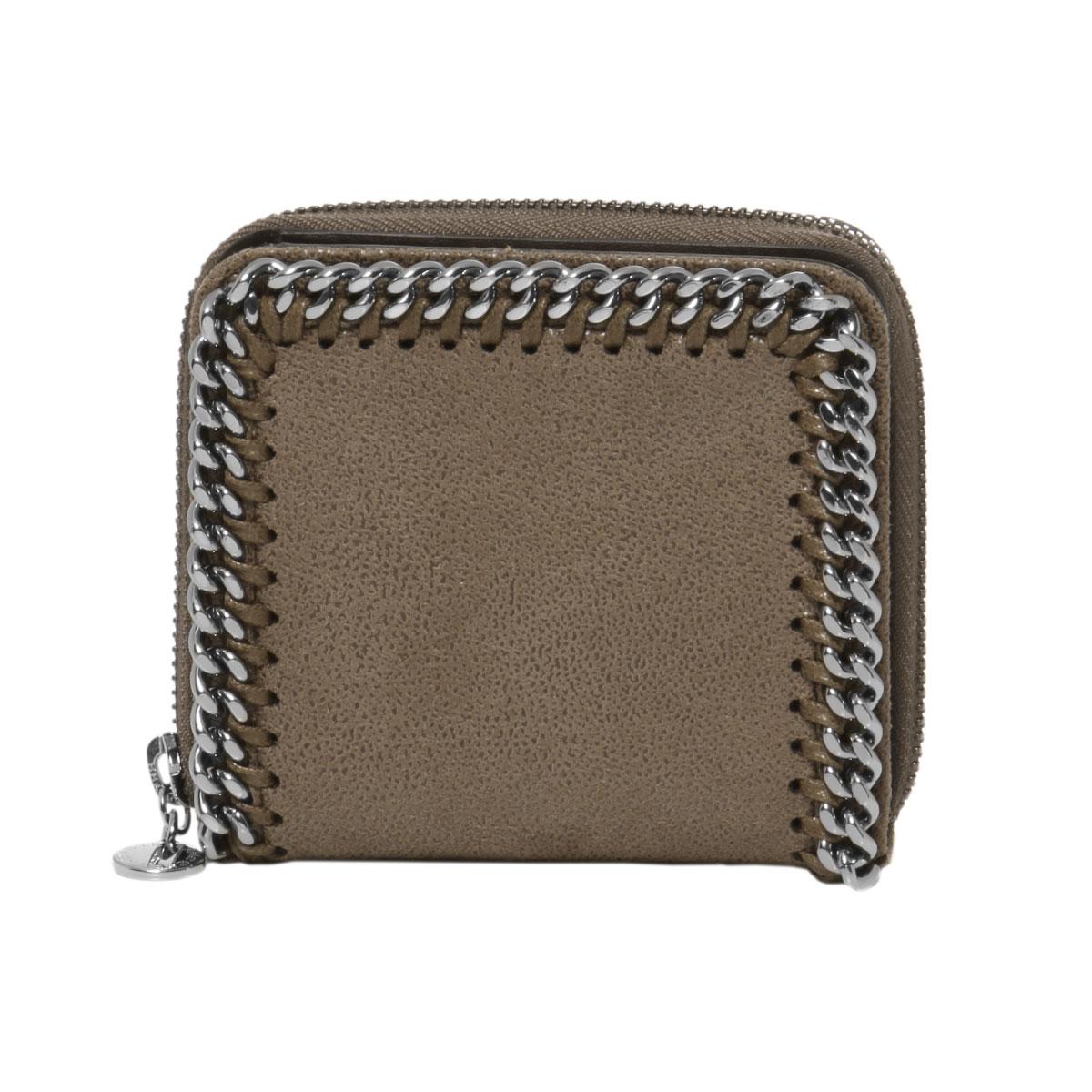 ステラ マッカートニー STELLA McCARTNEY 財布 レディース 581236 W9132 2822 二つ折り財布 FALABELLA ファラベラ DARK TAUPE ブラウン