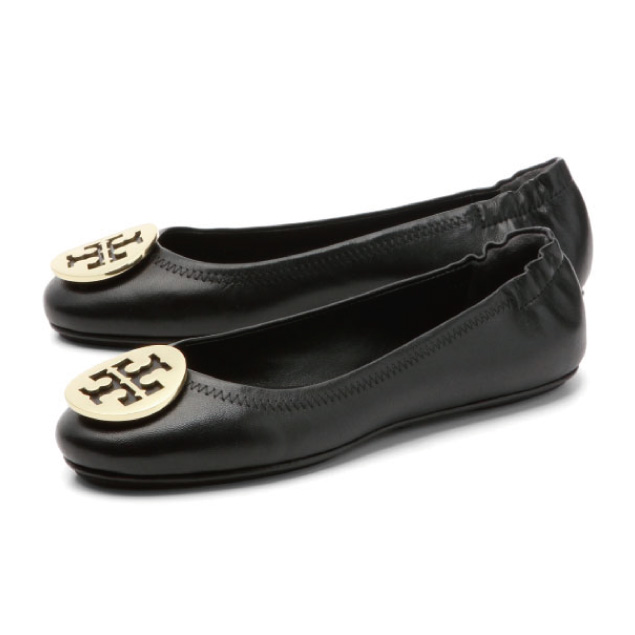 Tolly Birch TORY BURCH shoes Lady's 32880 002 ballet shoes MINNIE mini  BLACK/GOLD black