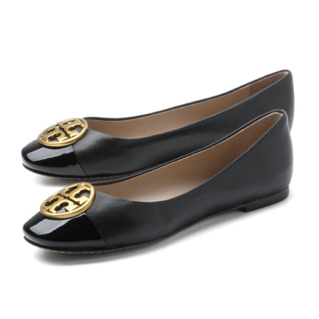 Tolly Birch TORY BURCH shoes Lady's 43827 009 ballet shoes CHELSEA Chelsea  BLACK/BLACK black