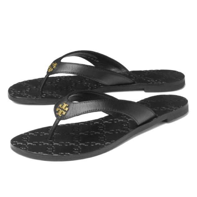 a0bf7f9b589 Tolly Birch TORY BURCH shoes Lady s 39670 001 tong sandals MONROE Monroe  BLACK black