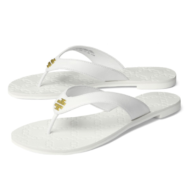 Tolly Birch Tory Burch Shoes Lady S 39670 100 Tong Sandals Monroe White