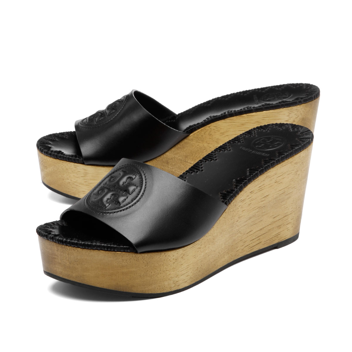 0a47d445f8 Tolly Birch TORY BURCH shoes Lady's 47092 006 wedge sandals PATTY patty  PERFECT BLACK black ...