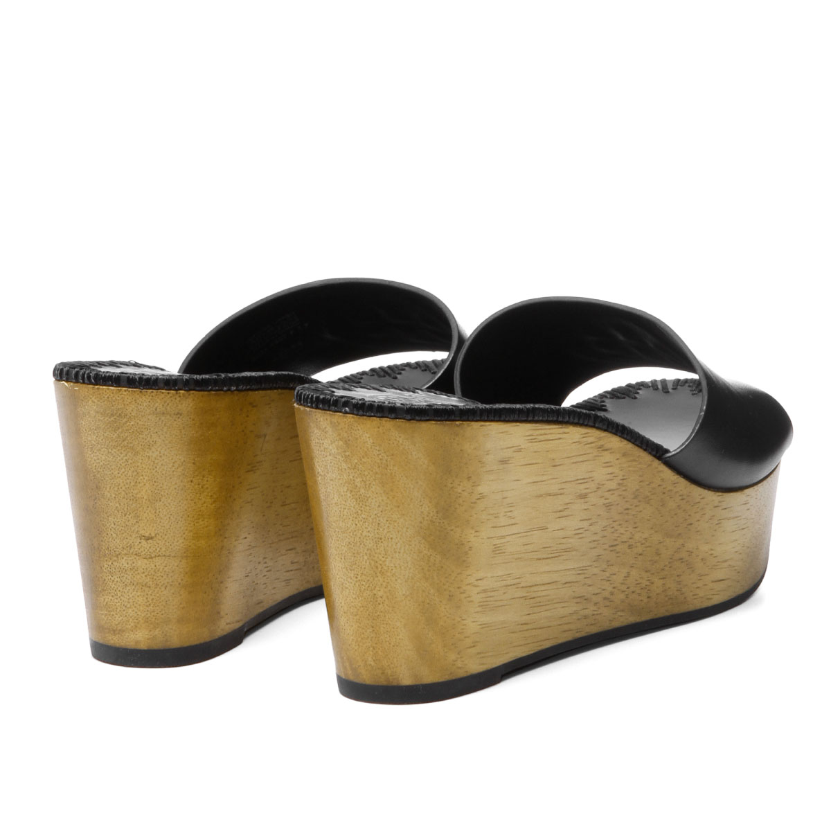 47b876ff3ce ... Tolly Birch TORY BURCH shoes Lady's 47092 006 wedge sandals PATTY patty  PERFECT BLACK black ...