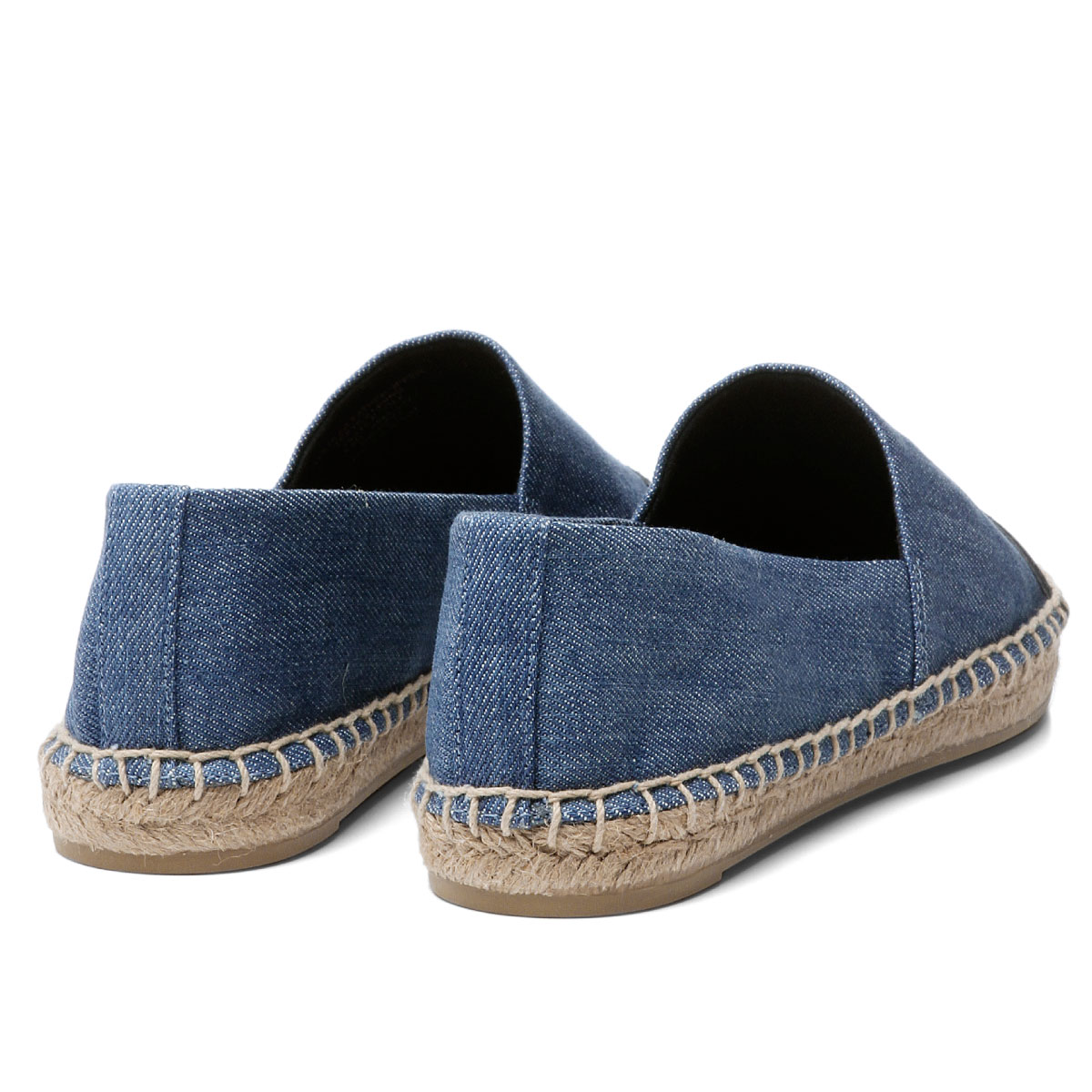 e383cb3407702 Tolly Birch TORY BURCH shoes Lady s 46767 435 espadrille COLOR BLOCK FLAT  color block flat DENIM CHAMBRAY PERFECT NAVY is blue