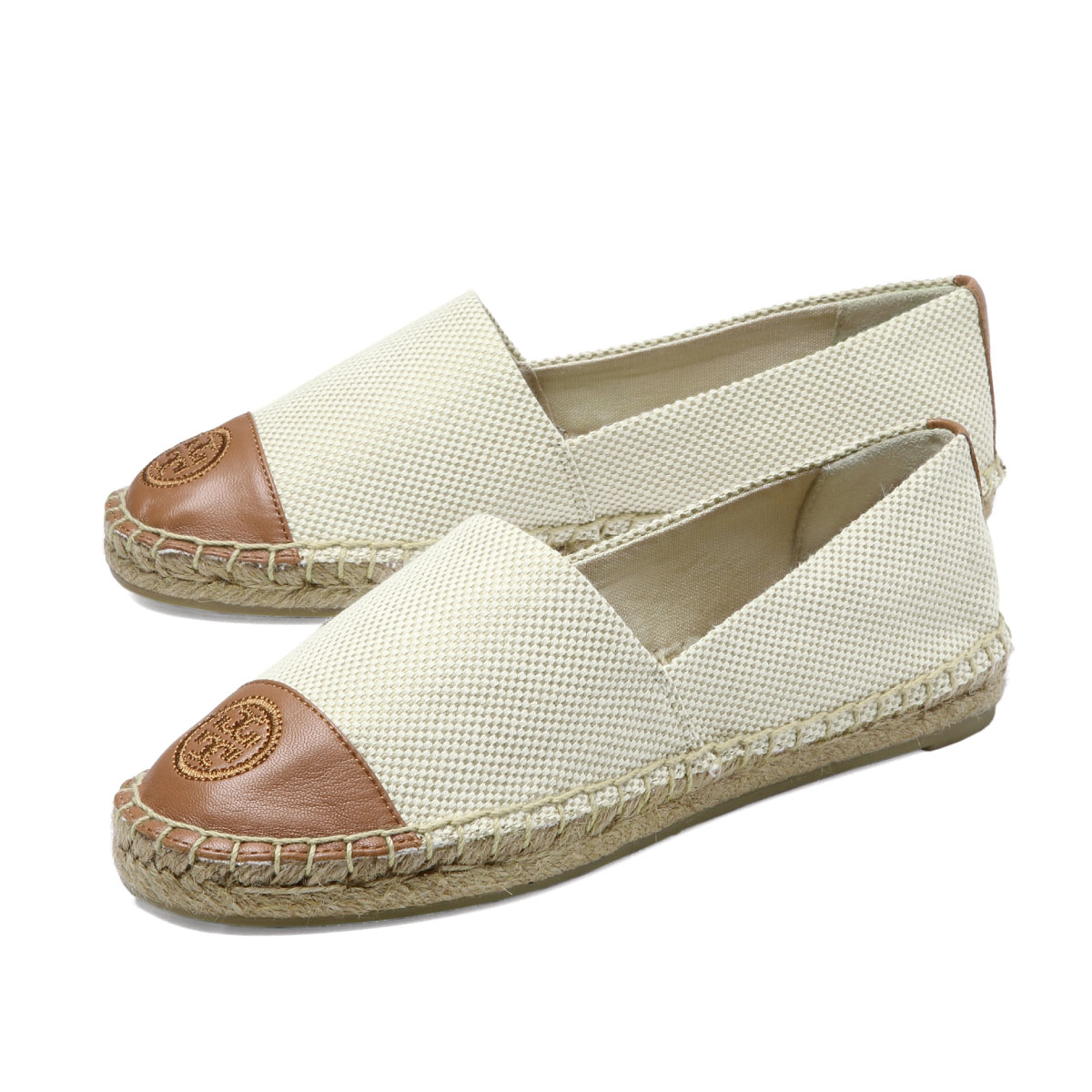 21a7ee50c importshopdouble  Tolly Birch TORY BURCH shoes Lady s 47016 276 espadrille  COLOR BLOCK FLAT color block flat NATURAL TAN is beige