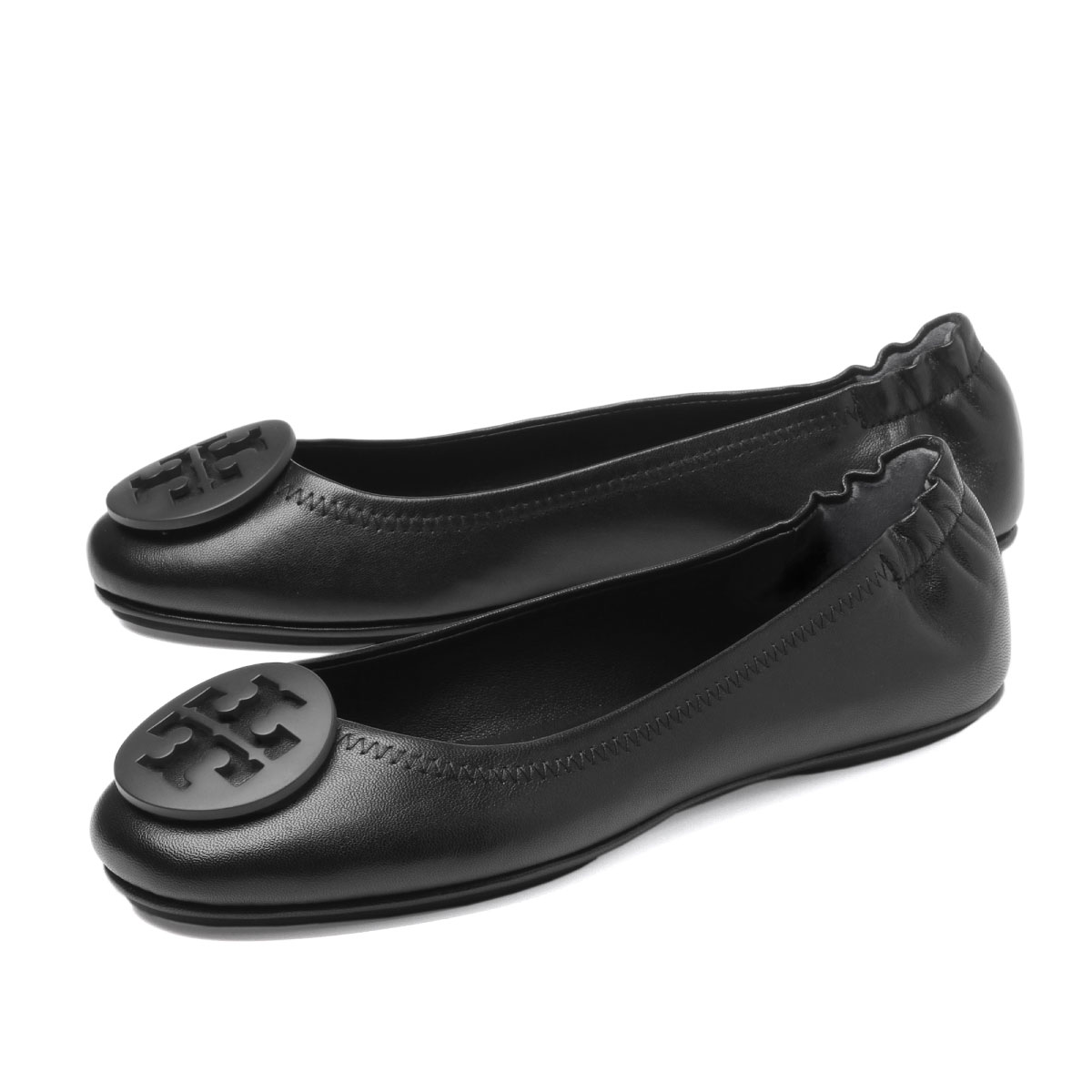 f770317bb importshopdouble  Tolly Birch TORY BURCH shoes Lady s 49350 006 ballet shoes  MINNIE mini PERFECT BLACK black