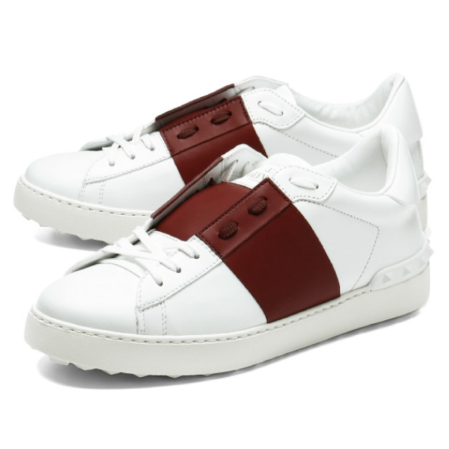 ead46cb98408 Valentino VALENTINO shoes men NY0S0830 BLU 28W sneakers OPEN opening  BIANCO  white