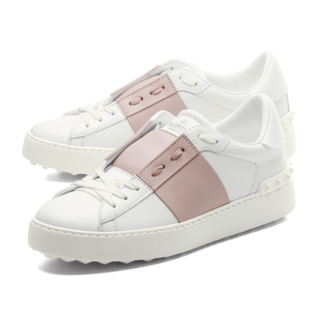 fb2694abb5 Valentino VALENTINO shoes Lady s PW2S0781 BLU 834 sneakers OPEN opening  BIANCO W white