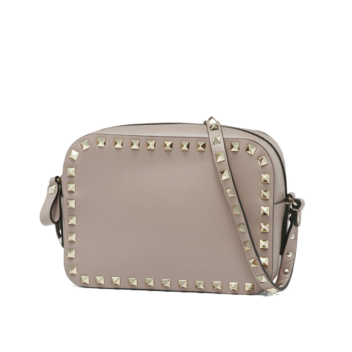 dd1a403a6f1eab Valentino VALENTINO bag lady PW2B0809BOL P45 shoulder bag ROCKSTUD lock  stud bolt POUDRE is beige ...