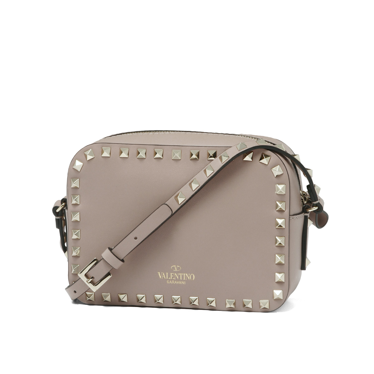 1856cb8bf5 Valentino VALENTINO bag lady PW2B0809BOL P45 shoulder bag ROCKSTUD lock  stud bolt POUDRE is beige