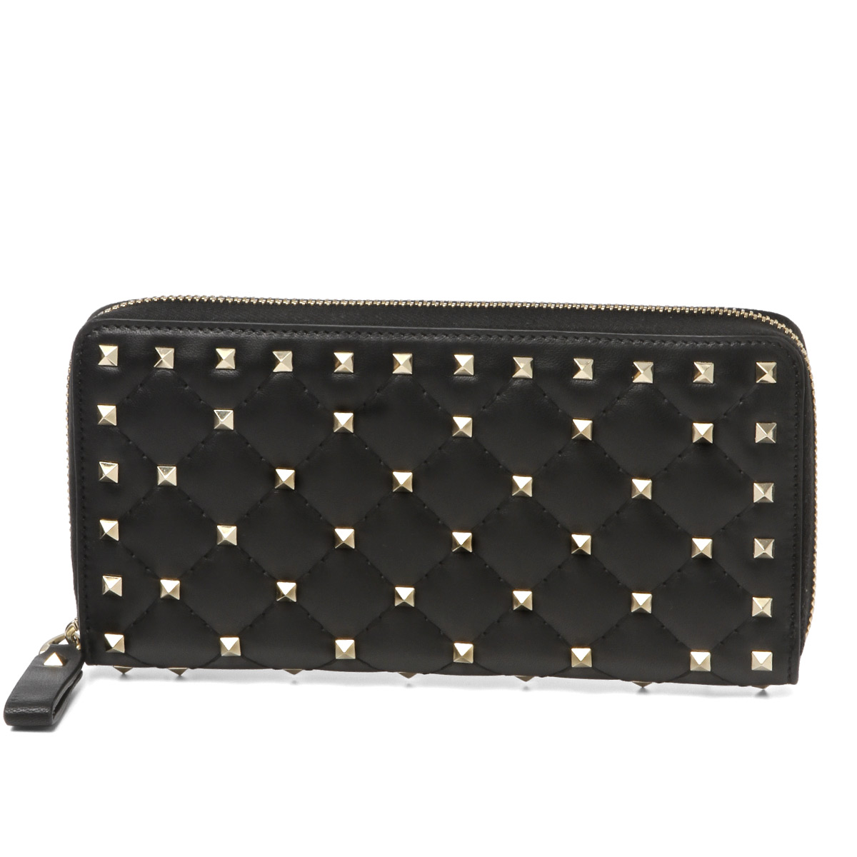 988fc2b1cc8b9 Valentino VALENTINO wallet Lady's PW2P0P00NAP 0NO round fastener long  wallet ROCKSTUD SPIKE lock stud bolt spikes ...