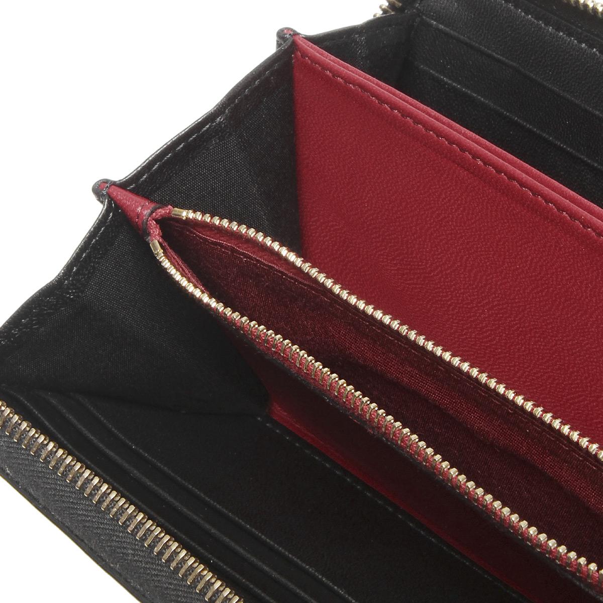 257795d5671b4 ... Valentino VALENTINO wallet Lady's PW2P0P00NAP 0NO round fastener long  wallet ROCKSTUD SPIKE lock stud bolt spikes ...