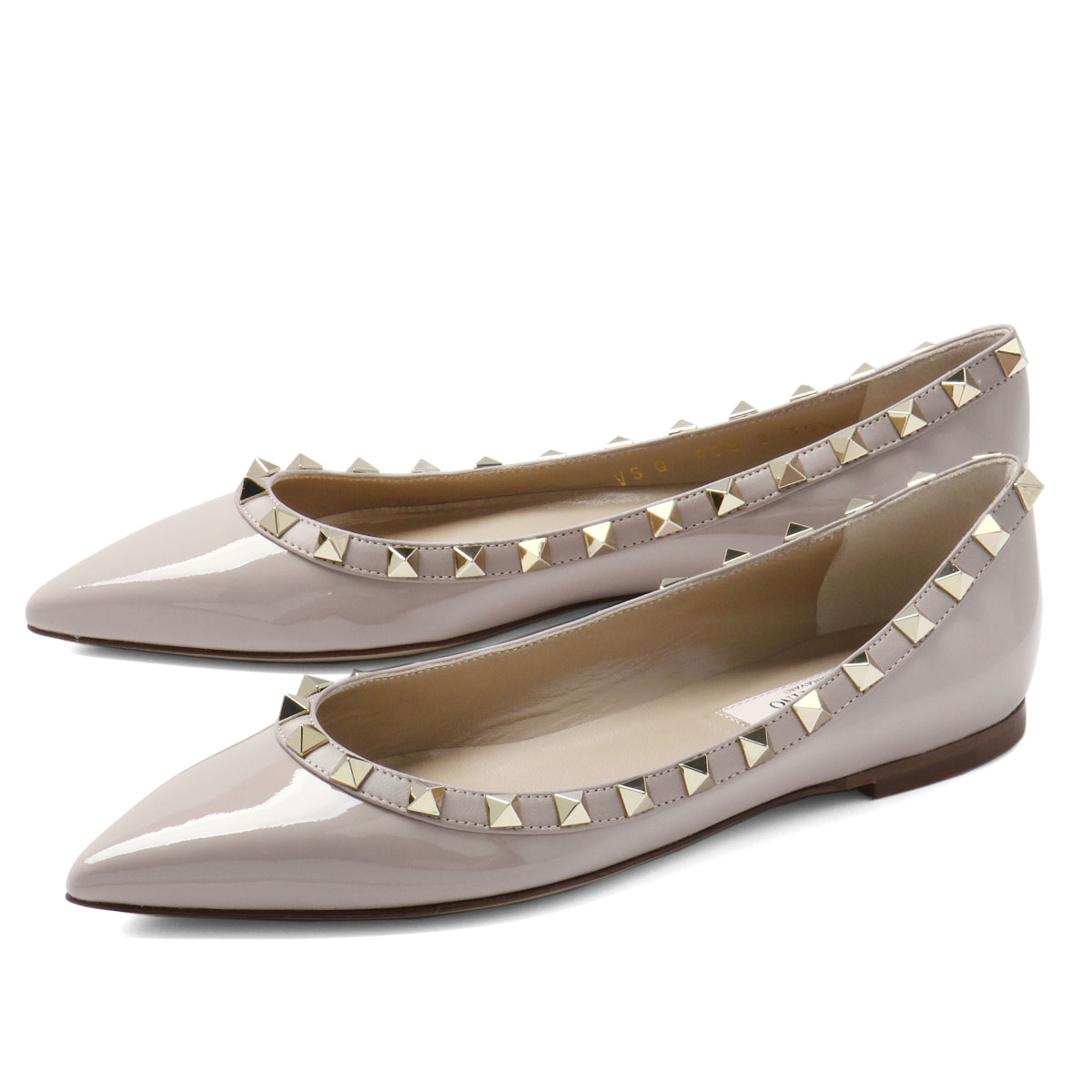 bcca20b81d509c importshopdouble: Valentino VALENTINO shoes Lady's QW2S0403 VNW P45 pointed  toe ballet shoes ROCKSTUD lock stud bolt POUDRE/P is beige | Rakuten Global  ...